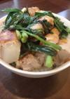 肉巻き野菜の焼肉丼