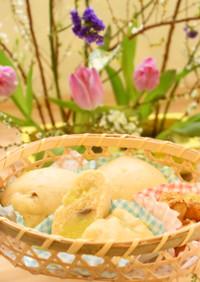 米粉のバナナきな粉蒸しパン