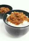 豚挽肉の油味噌(。・_・。)