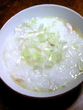 中華粥(参鶏湯?)