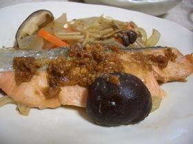 フライパンで鮭のチャンチャン焼風