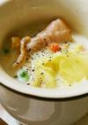 春キャベツとベーコンのクリームスープ