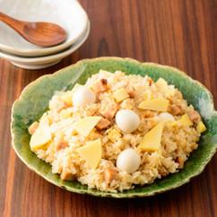 タケノコとうずらの中華炊き込みご飯