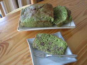 抹茶小豆パウンドケーキ