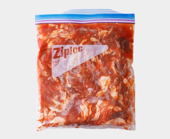 下味冷凍!豚こまケチャップ味