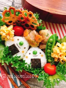 キャラ弁☆三角おにぎりちゃん弁当