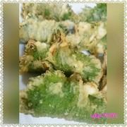 *イワシと梅ザーサイの天ぷら*の写真