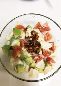 アボカド・トマト・豆腐の中華風サラダ