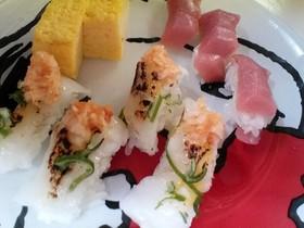 エンガワ+西京味噌の握り寿司 (炙り)