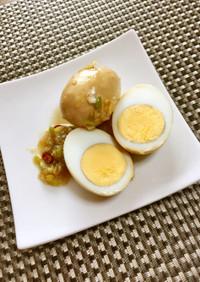 卵の油淋鶏(ユーリンチー)風甘酢づけ