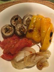 魚焼きグリル任せの焼き野菜の写真