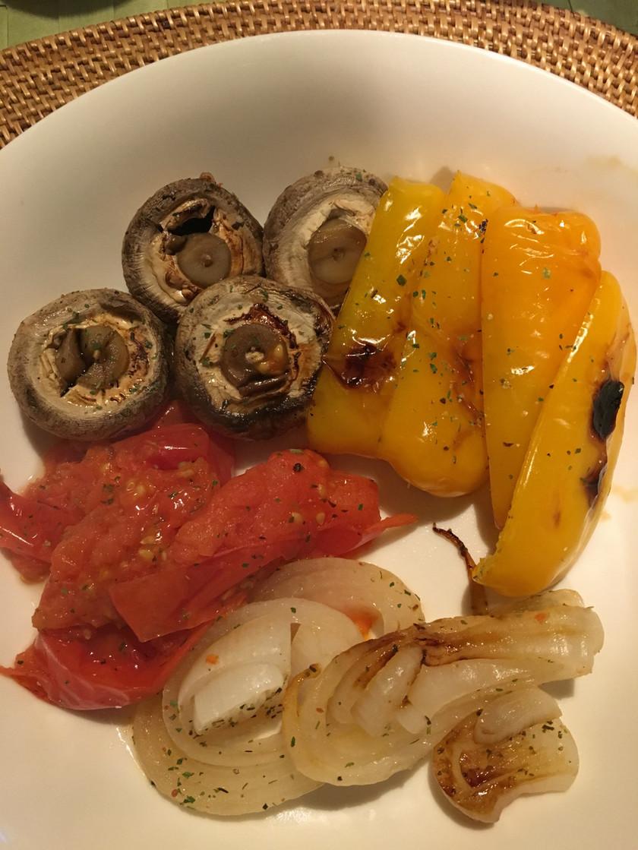 魚焼きグリル任せの焼き野菜