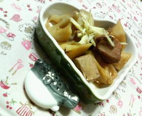 貧血予防♡カツオとレンコンの♥さっぱり煮