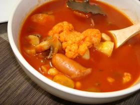 カリフラワーと大豆のトマトシチュー