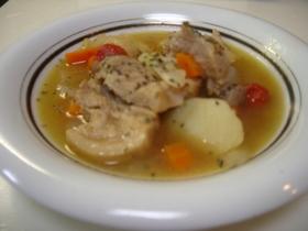ほろ苦い大人の味☆豚肉のビール煮スープ