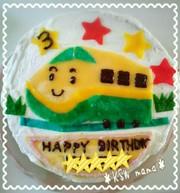 クレープ生地をつかって♪新幹線ケーキ♪の写真