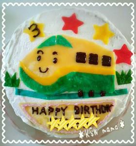 クレープ生地をつかって♪新幹線ケーキ♪