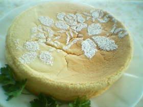 豆乳でチーズケーキ (*^^*)