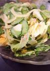 レタスと新玉と胡瓜とツナ卵のサラダ
