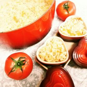 ル・クルーゼの丸ごとトマトご飯♪炊飯器可