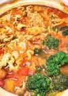 春キャベツのカレートマト鍋