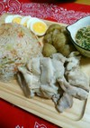 炊飯器DEボリューム満点カオマンガイ風☆