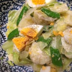 簡単、アンチョビマヨネーズの春野菜サラダ