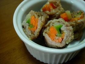 酢豚みたいな野菜の肉巻き
