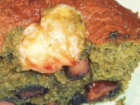 栗のせ抹茶黒豆ケーキ