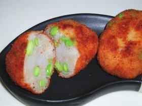 枝豆入り里芋のコロッケ