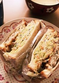 豆腐ハンバーグサンドイッチ
