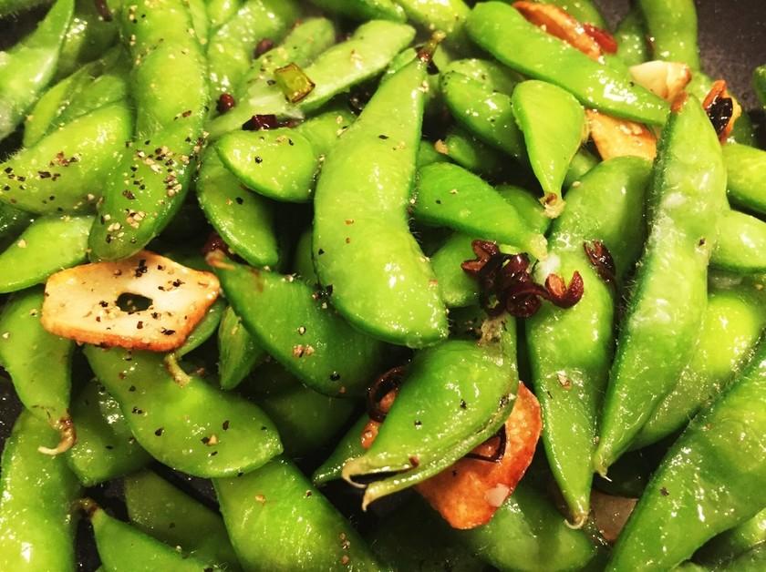 ☆枝豆のピリ辛ペペロンチーノ☆