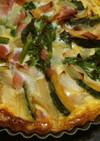 菜の花と南瓜のキッシュ