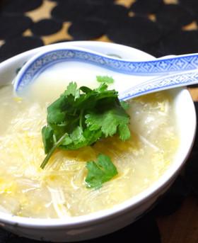 白菜と春雨のスープ、サンラータン風