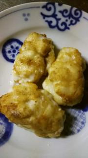 鱈の白子のバター焼きの写真