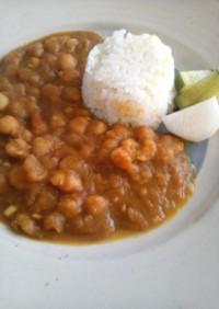 脂質制限ヒヨコ豆のカレー