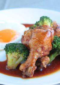 鶏肉ウイングスティックの酢醤油煮