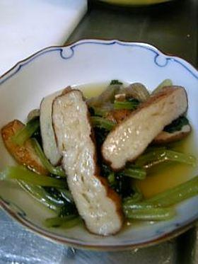 麺つゆを使った 簡単さつま揚げの煮びたし