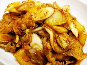 【ホシサン鍋の素】定番豚キムチ炒め♪