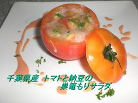 トマトと納豆の巣篭もりサラダ