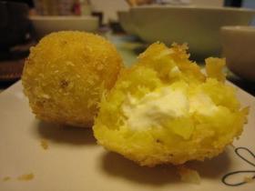 さつまいもとクリームチーズのコロッケ