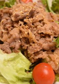 牛肉スタミナ焼きのサラダ仕立て