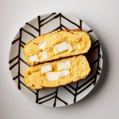 基本のスクランブル卵焼き+はんぺん