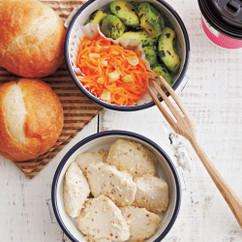 鶏肉ヨーグルト焼き&パン弁当