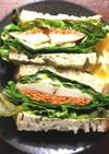 炙り〆鯵のサンドイッチ