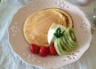 国産小麦粉HMでホットケーキ