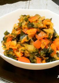 野菜たっぷり!わかめとキムチの中華サラダ