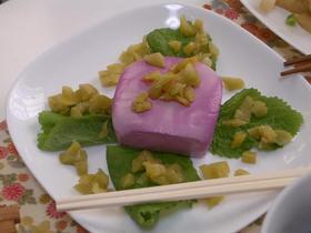 赤梅酢で★豆腐の梅酢漬け☆