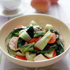 青梗菜とささ身の中華風サラダ