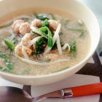 もやしとにらの明太スープ